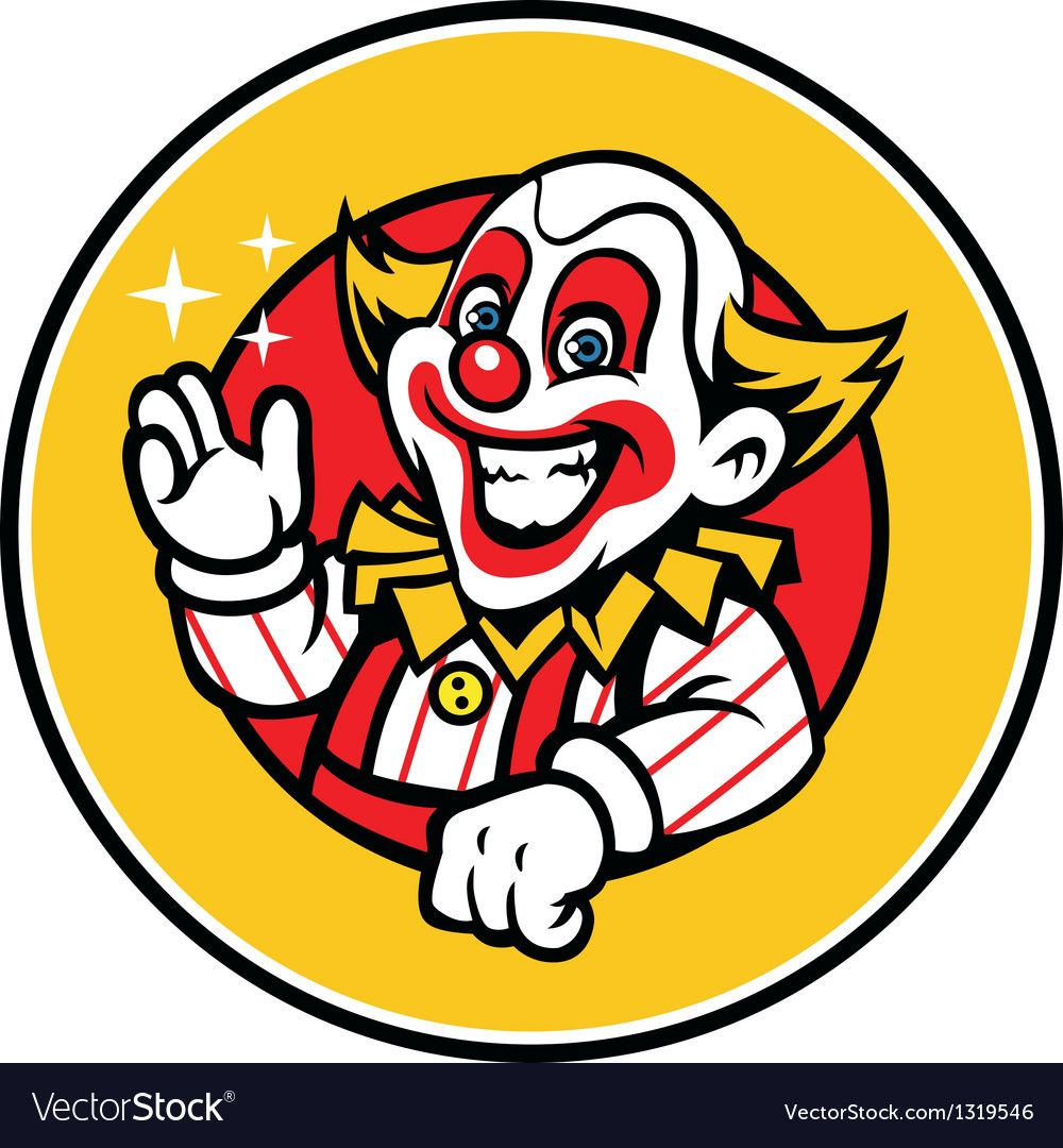 Clown Greeting Royalty Free Vector Image Vectorstock Affiliate Royalty Greeting Clown Free Ad