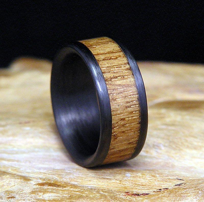 Jack Daniels Wood Carbon Fiber Wedding Band Or By HolzRingShop 9900