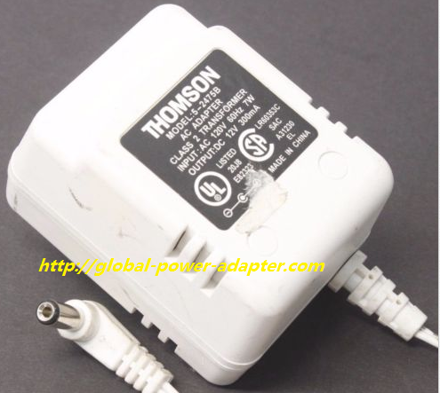 New Thomson 5 2475b Ac Dc Power Supply Adapter Charger Output 12v 300ma Power Adapter Power Supply