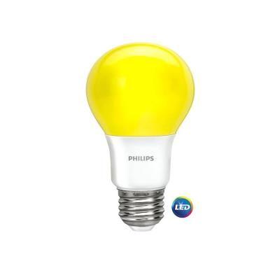 60 Watt Equivalent A19 Non Dimmable Yellow Led Bug Light Bulb 4