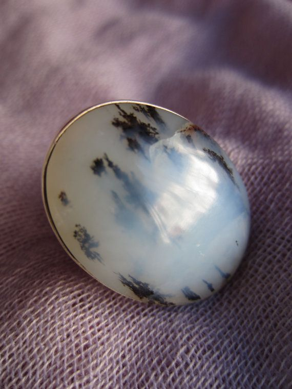 Peruvian opal  large  cloudy black and white Andean opal by Perunz, $53.00
