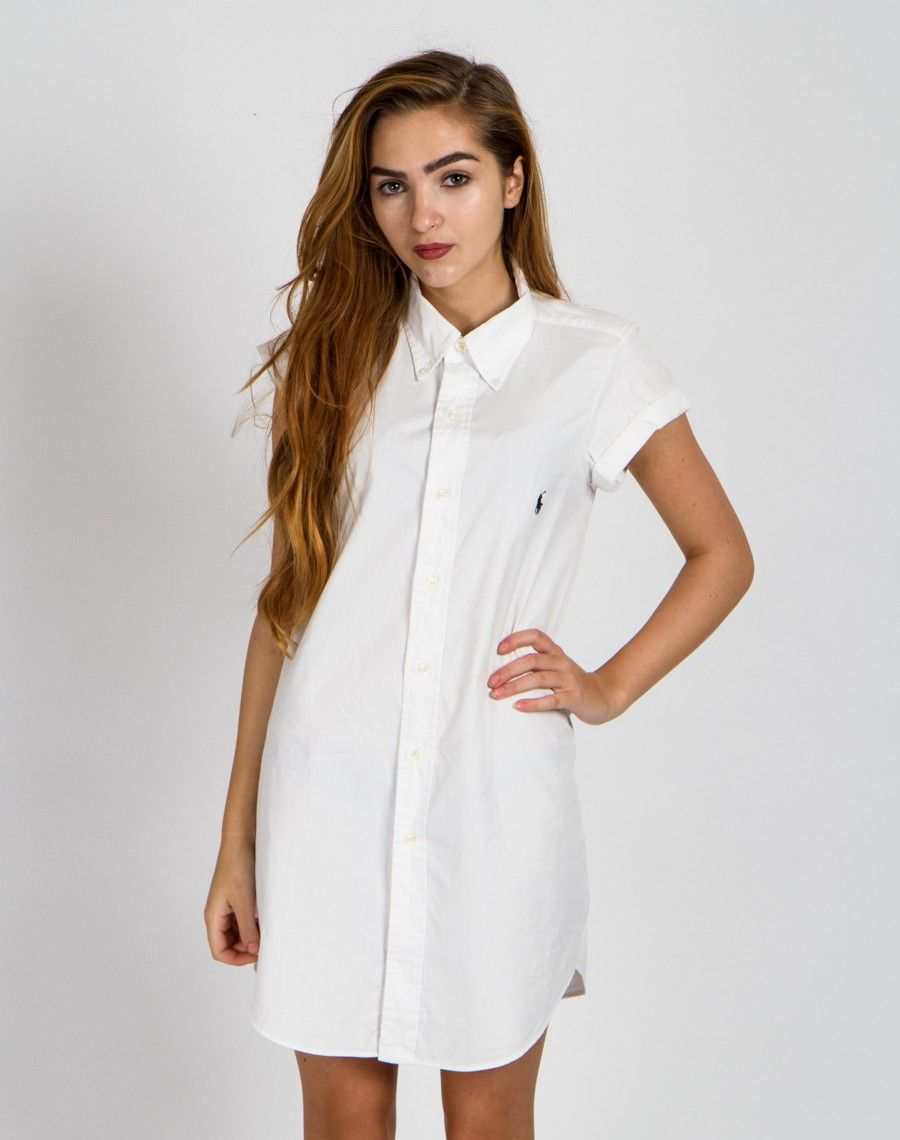 Rework Ralph Lauren White Shirt Dress UK 10 | Wardrobe Wishlist ...