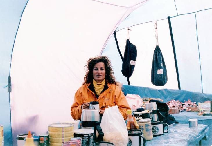 Lene Gammelgaard - 1 Scandinavian Woman to summit Everest May 10 1996. Nr. 35 Woman in the World. Lene Gammelgaard climbed on Scott Fischers expedition and were on her way down from the summit as Scott were heading for the peak.