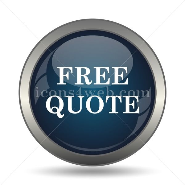 Free quote icon for website  Free quote stock image Free quote stock image icon for website High definition image designed for integration in published media such as post...