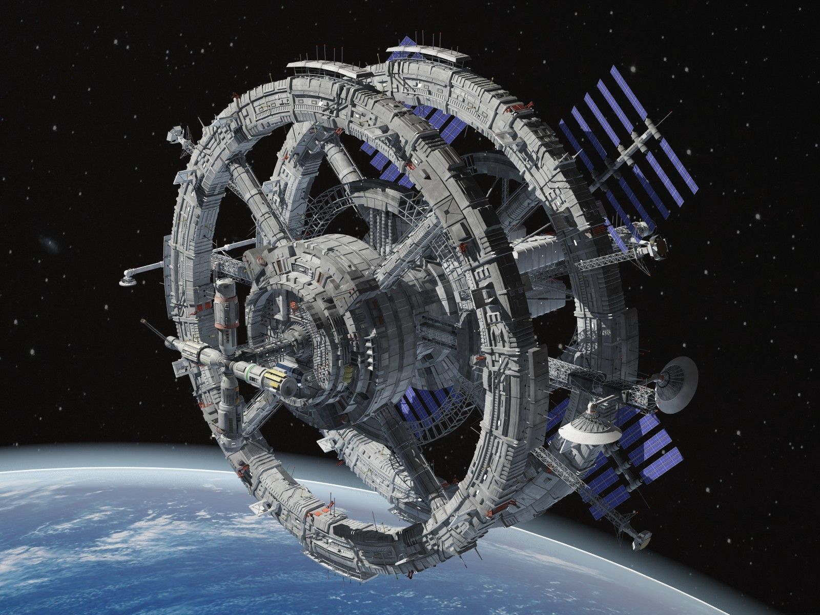 3d model generic sci-fi space station | Space station ...