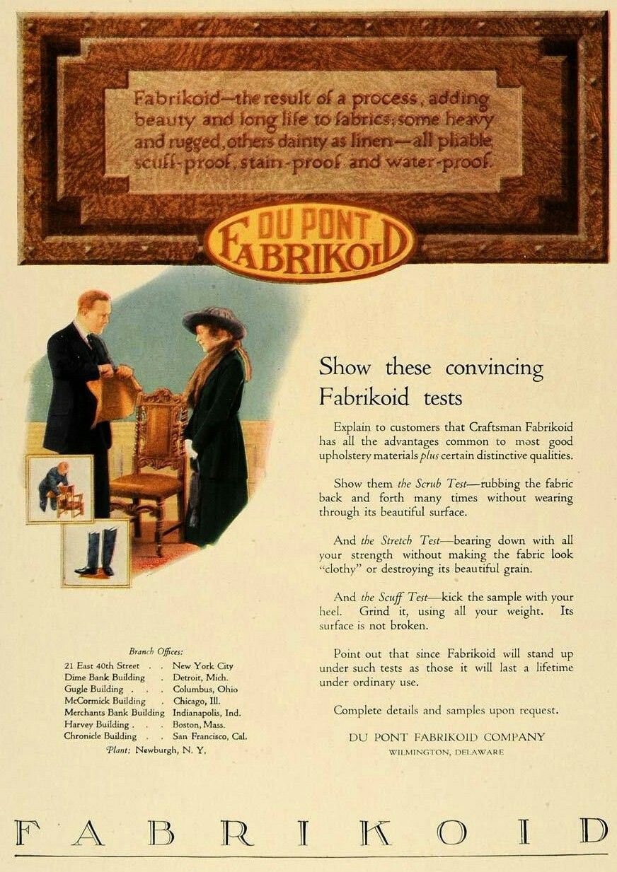 Dupont 1920 Furniture Ads Vintage Furniture Craftsman