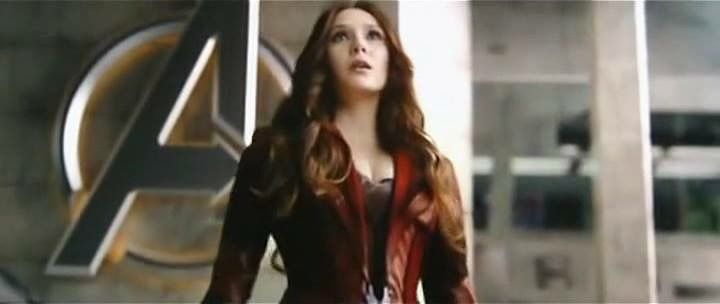 A Close Up Of The Scarlet Witch S Costume Worn By Elizabeth Olsen Avengers Age Of Ultron Designed By A Scarlet Witch Costume Avengers Outfits Marvel Costumes