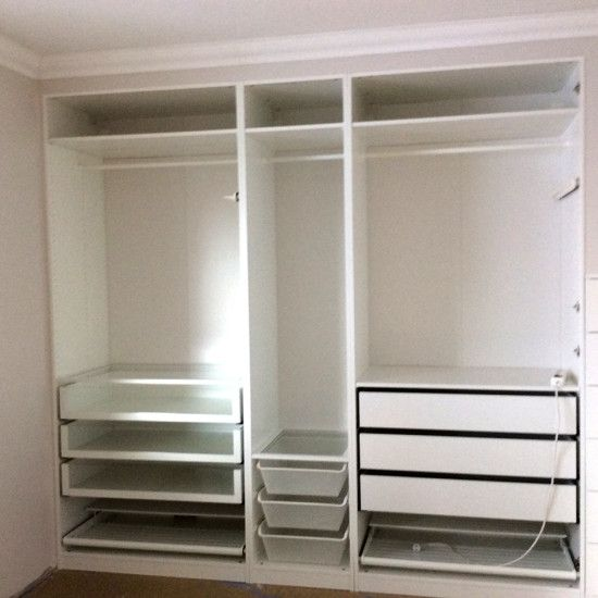 Built In Pax Wardrobe And Nightstand Deco Maison Pinterest