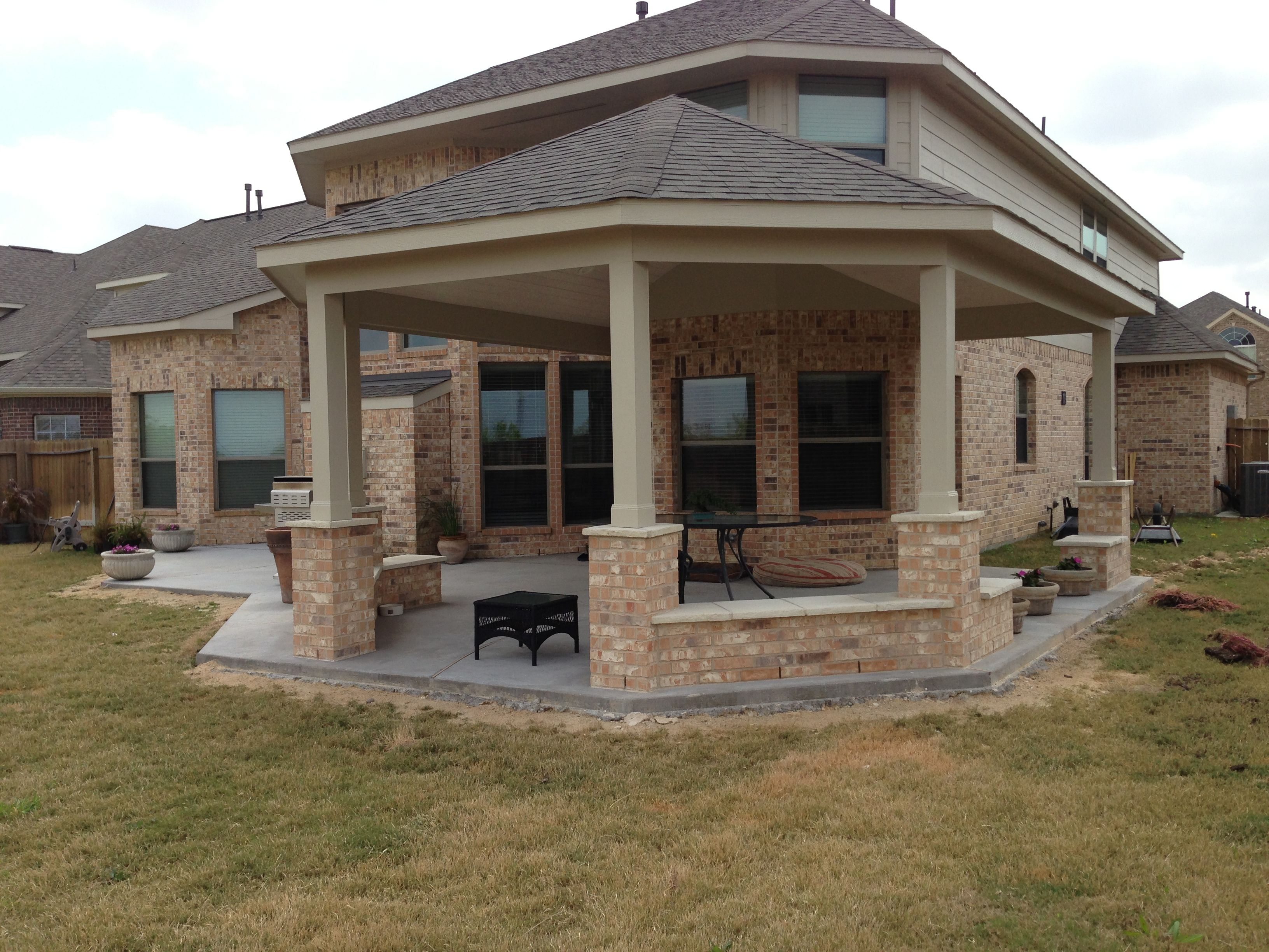 Here is a different view of the custom, hex shaped patio addition we built & designed for a client.  I like this one!