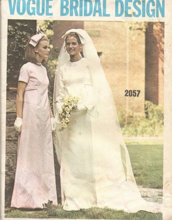 Vintage Sewing Pattern 1960\'s Wedding Dress Vogue Bridal Design 2057