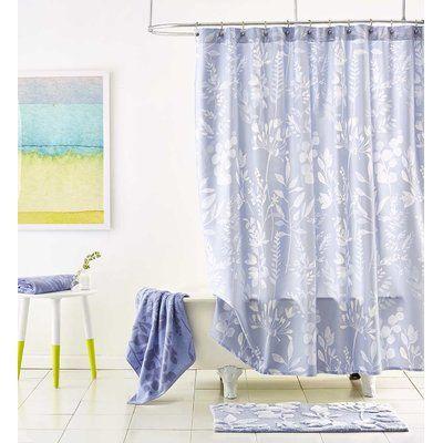 Bluebellgray Fleur Cotton Shower Curtain Shabby Chic Shower