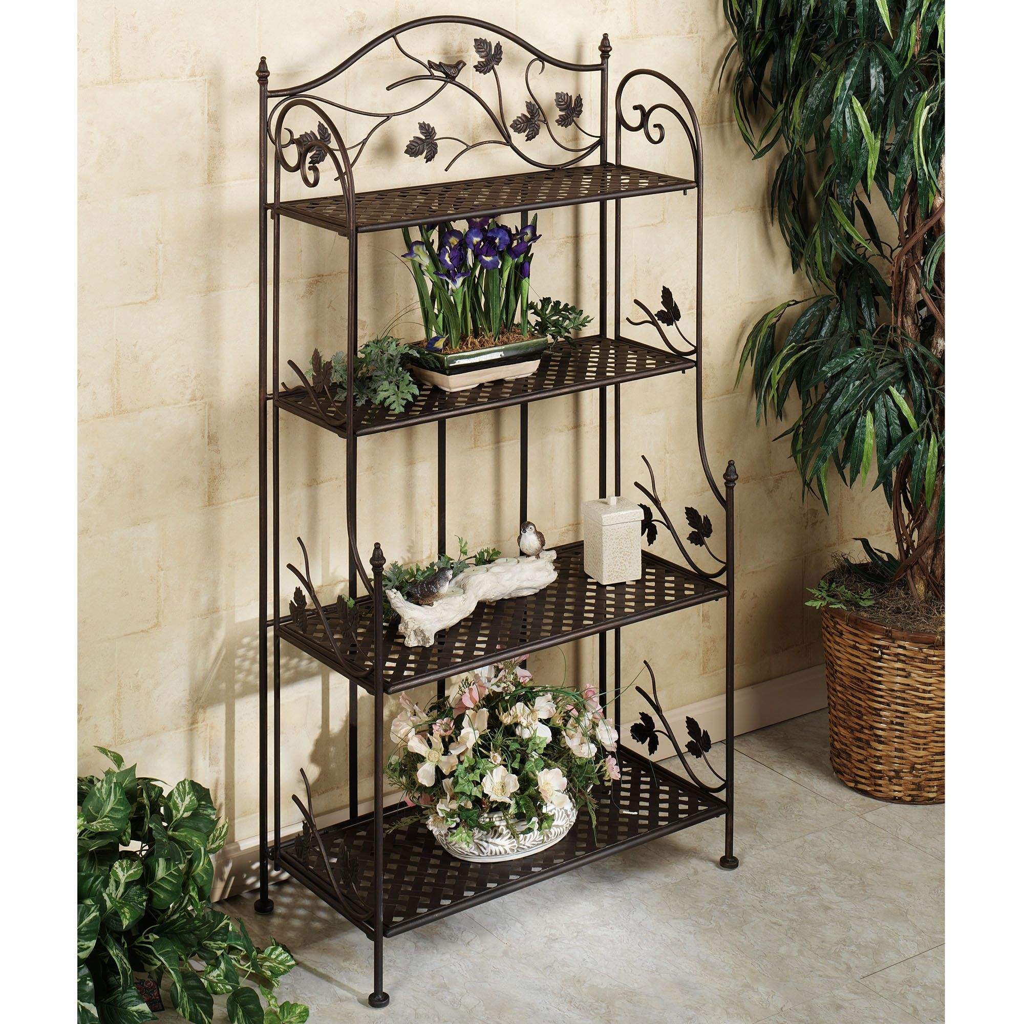 Songbird symphony indoor outdoor etagere indoor outdoor Plant stands for indoors