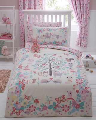 Bluezoo Girl S Ivory Little Owl And Friends Bedding Set
