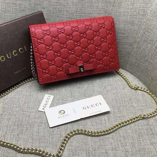 54807cc8ca3 Gucci Signature Mini Bag Red 431408