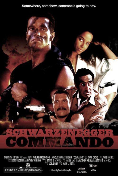 Commando 1985 Us Poster Poster De Filmes Filmes Anos 80