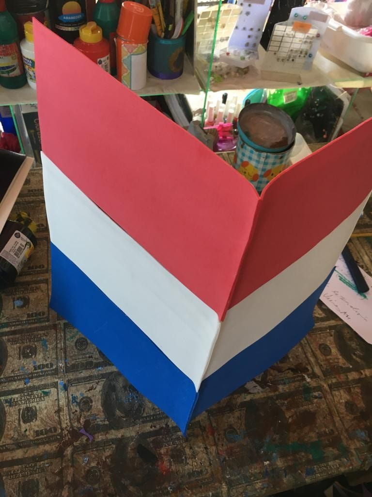 Carpeta Creativa Tricolor Bandera Del Paraguay Carpetas Decoradas Carpeta Creatividad