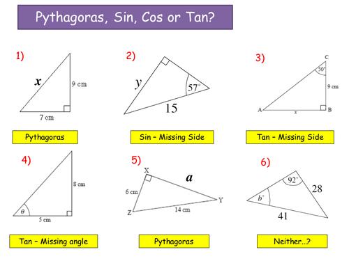 Sine Cosine Rule Lessonppt Geometria Pinterest Math School