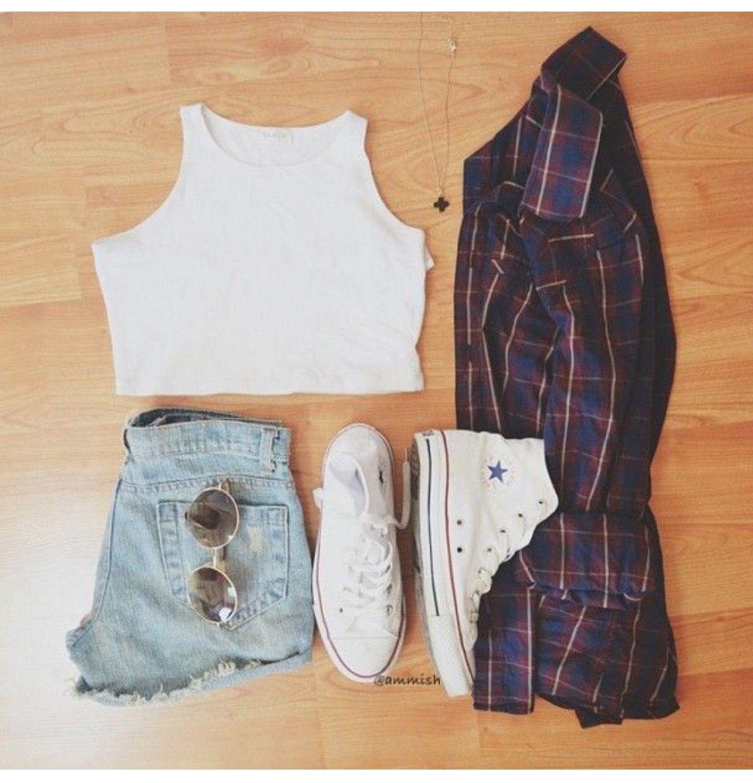 Flannel shirt jeans  Pin by i d e a l s on f a s h i o n f a u x p a s  Pinterest