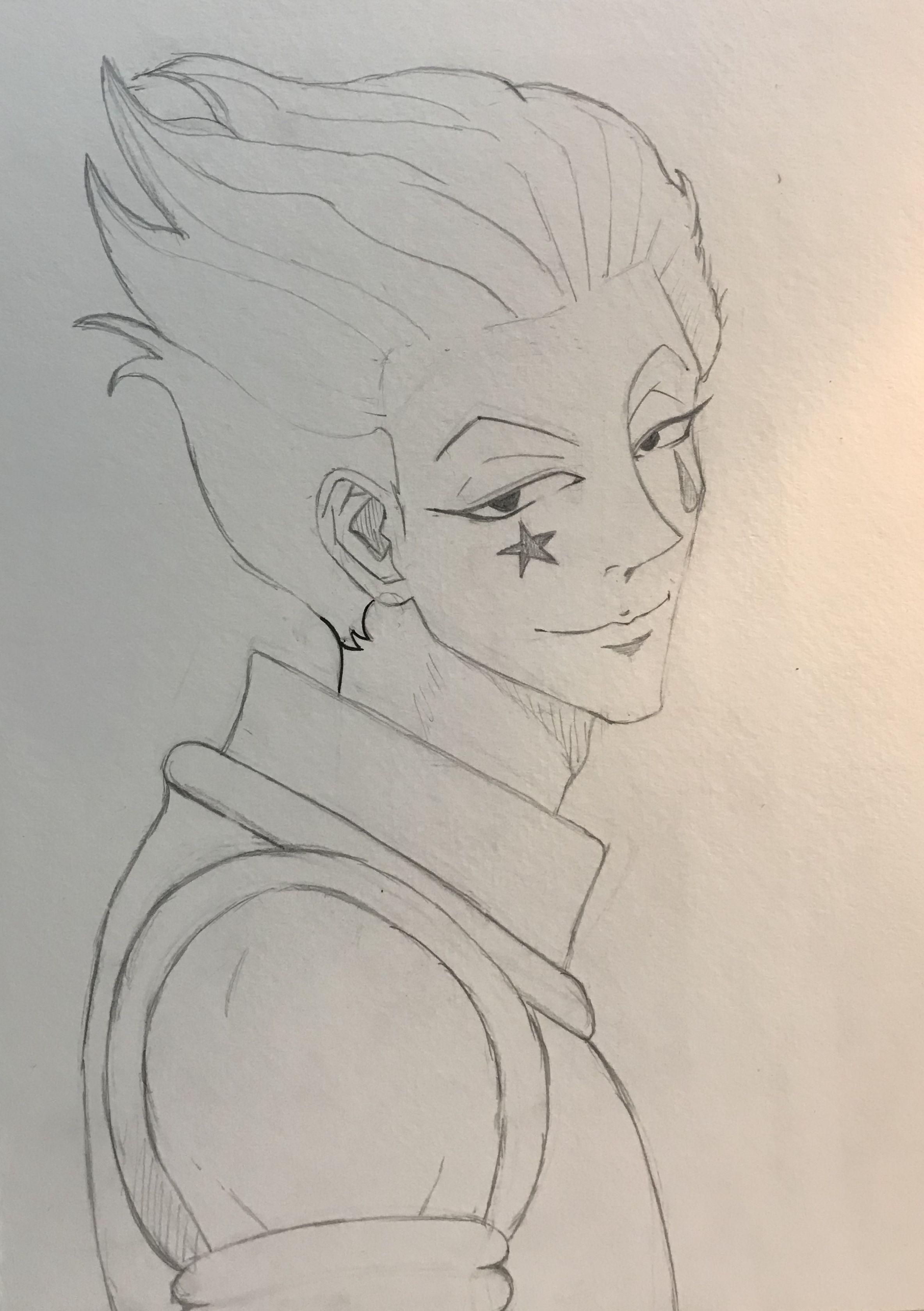 Hisoka Hunterxhunter Illustration Drawing Sketch My Drawings Drawings Pencil Drawings
