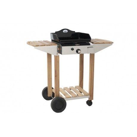 424dced2291035 Plancha    chariot bois    inox Forge Adour 45 cm   Planchas gaz
