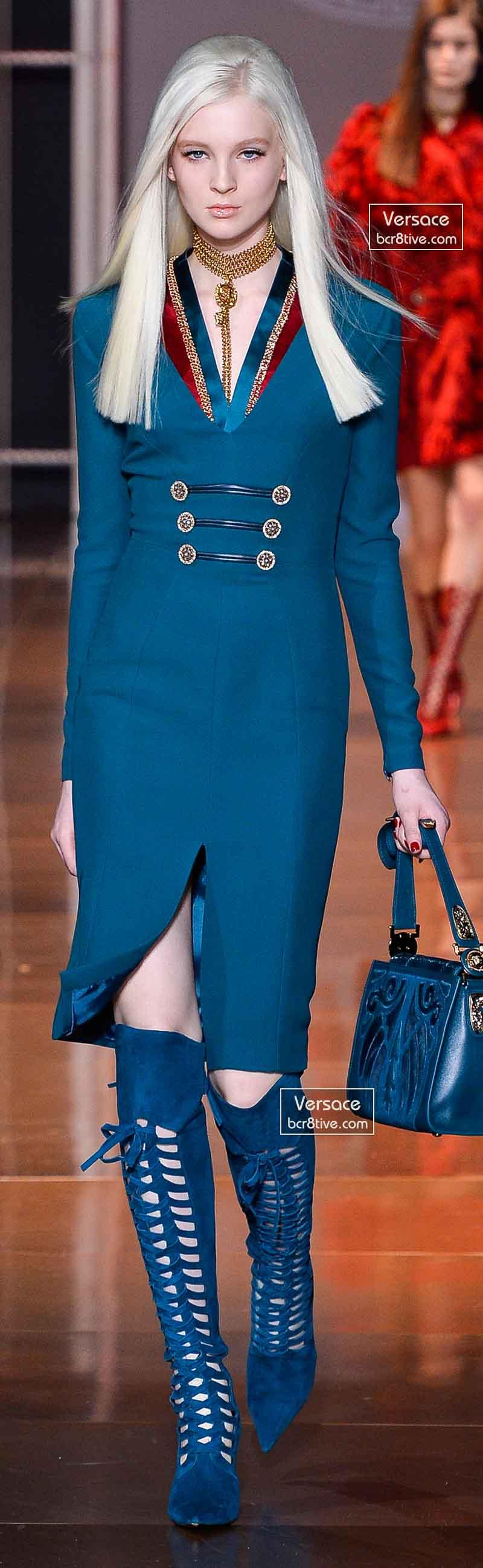 Versace Fall 2014 - Nastya Sten