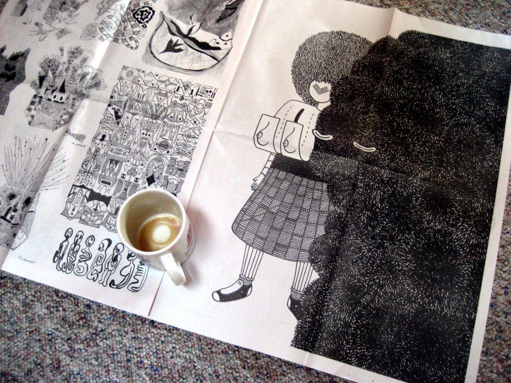 ilustração + café