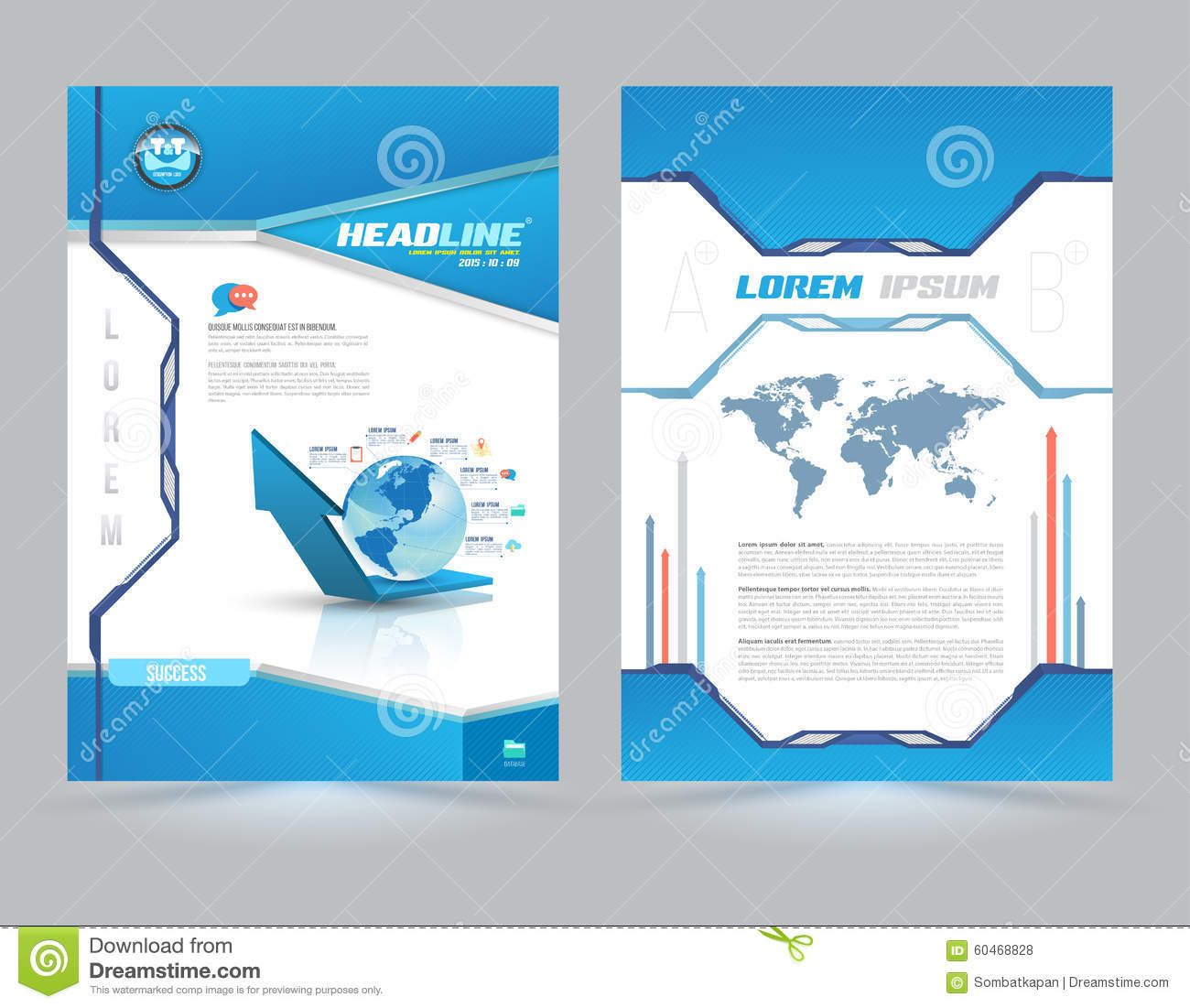 Report Cover Page Templates Free Download Expenses Claim Template Business  Letterhead Layout Technology Style Vector  Free Report Cover Page Template