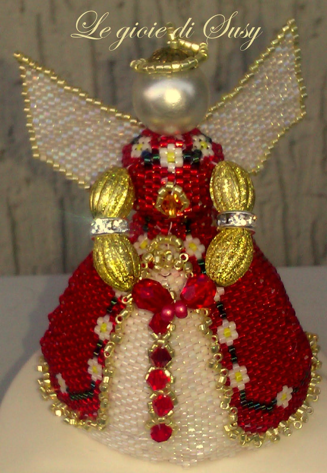 Angel Majestic Beaded Christmas Ornaments Christmas Bead Beaded Crafts