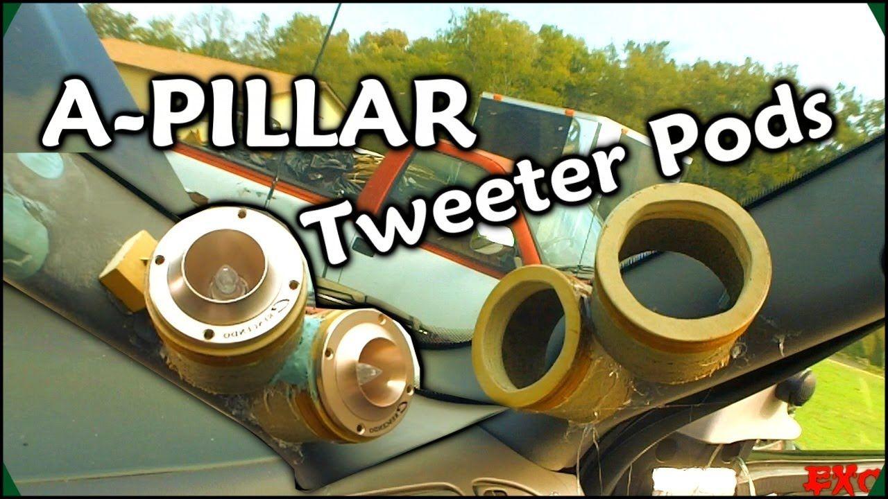 Making Fiberglass Tweeter Pods Custom Car Audio A Pillars W 6 Crescen Custom Car Audio Car Audio Car Audio Fabrication