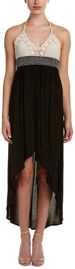 Lunik Crochet-Trim Maxi Dress