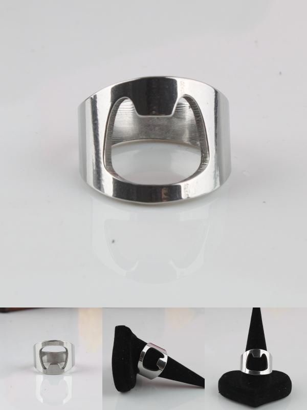 [Visit to Buy] Beer bottle opener rings 316L Stainless Steel finger ring men women jewelry  wholesale #Advertisement