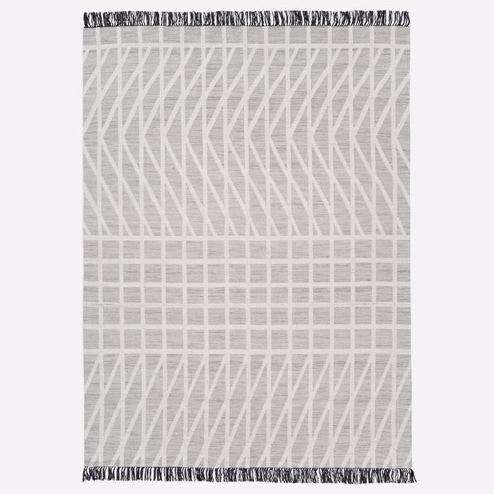 Grid Mix Rug Stone Gray 8 X10 West Elm Rugs Reversible Rug Rug Guide
