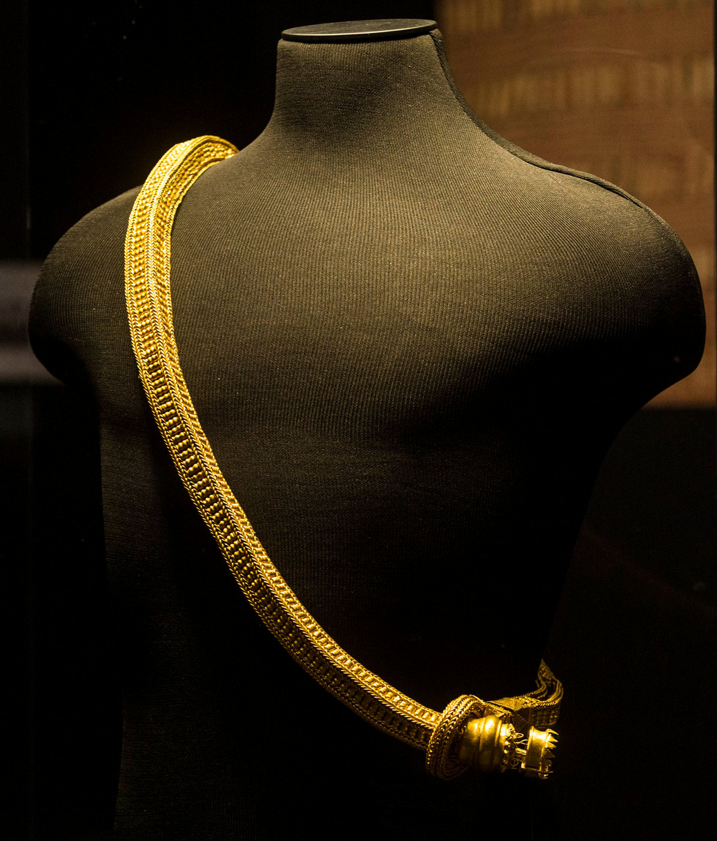 """A sash or caste, gold cord, from the exhibit """"Philippine Gold: Treasures of Forgotten Kingdoms"""" / Asia Society New York"""