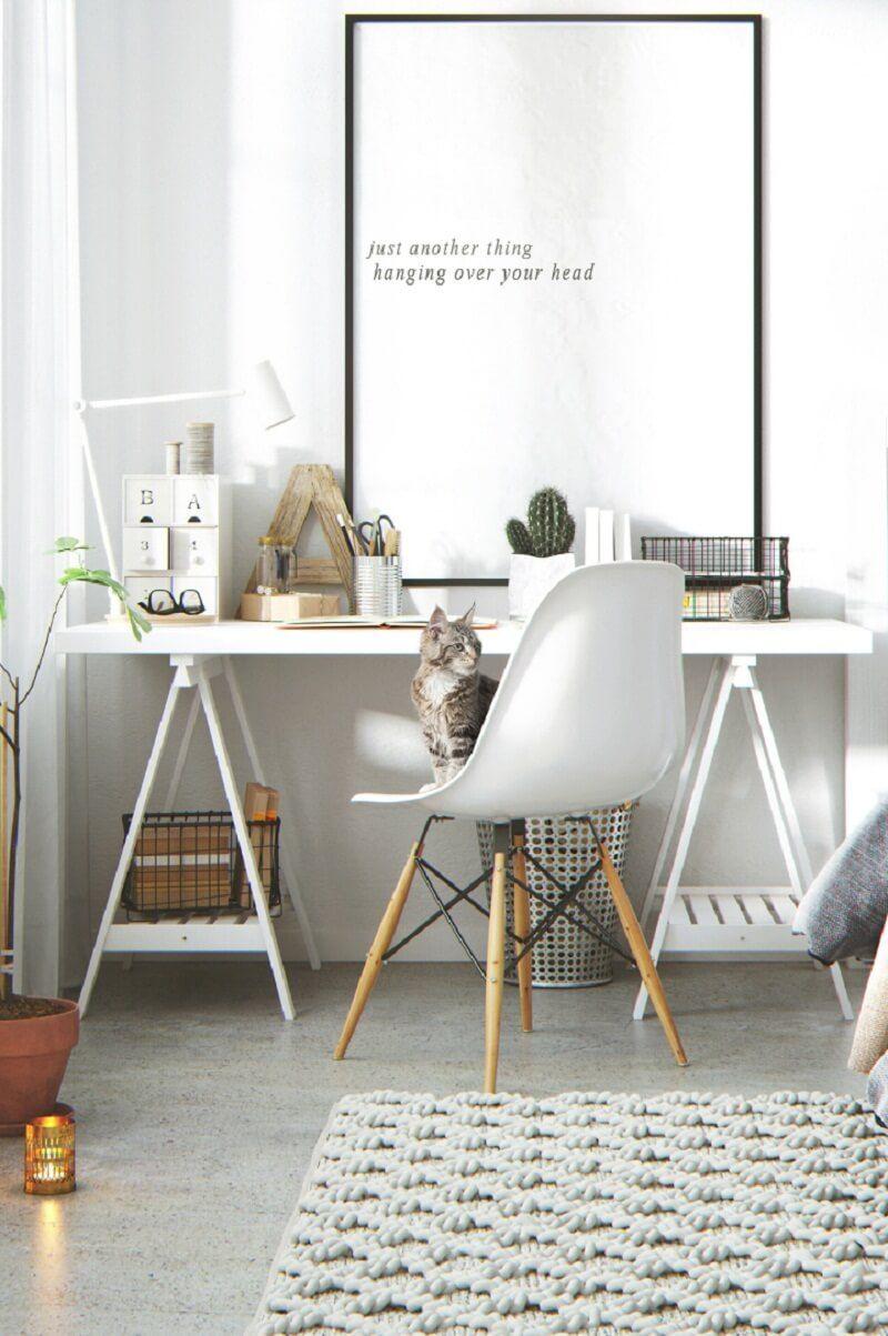 15 idées pour aménager un coin bureau dans un petit salon  Deco