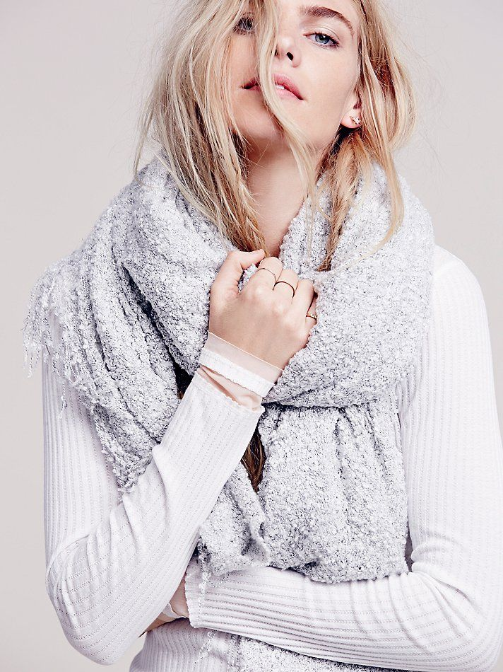 Free People Demi Boucle Oversized Scarf at Free People Clothing Boutique