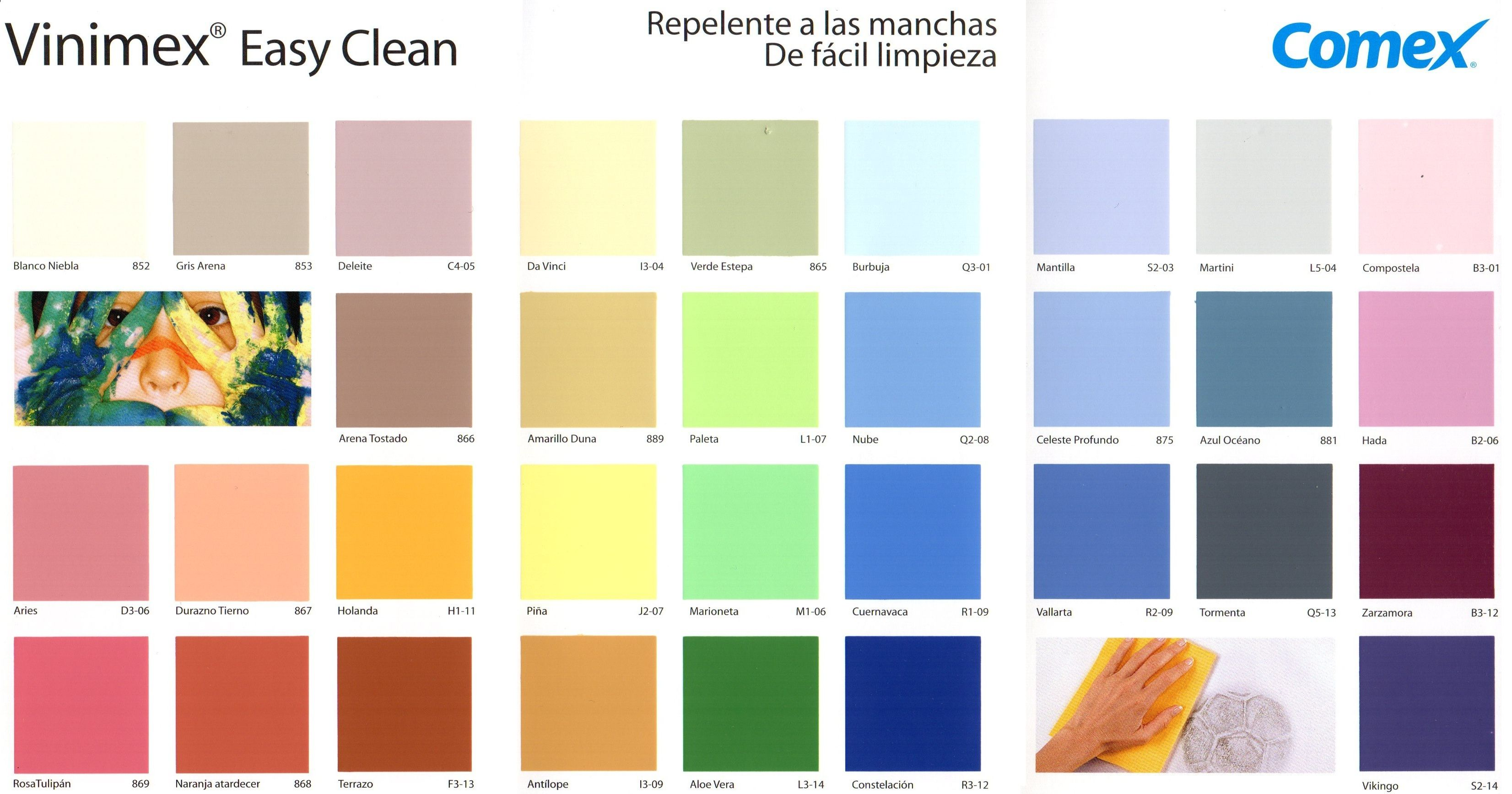 Vinimex easy clean comex 4l colores pinterest for Catalogo de colores para interiores