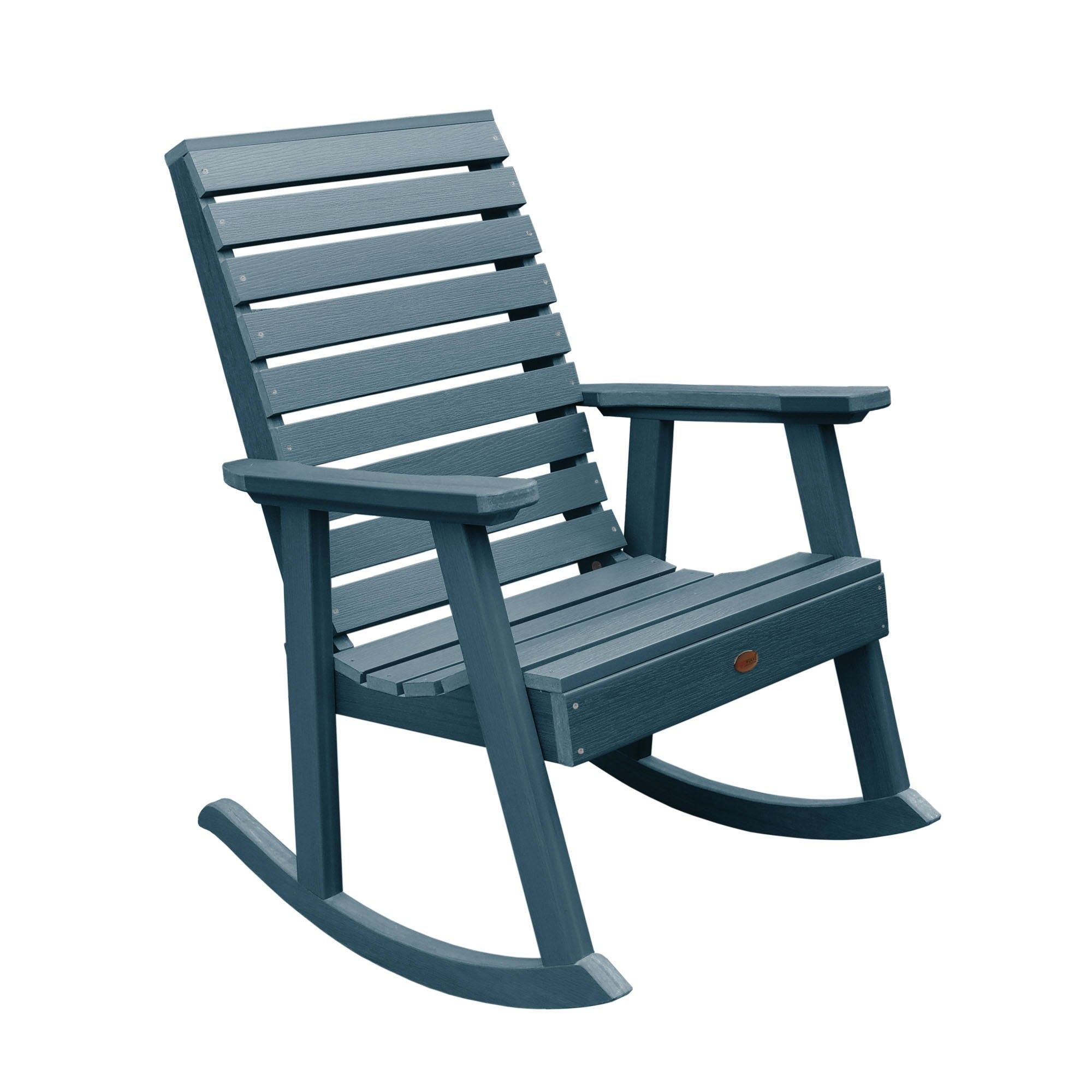 Weatherly Rocking Patio Chair Nantucket Blue highwood
