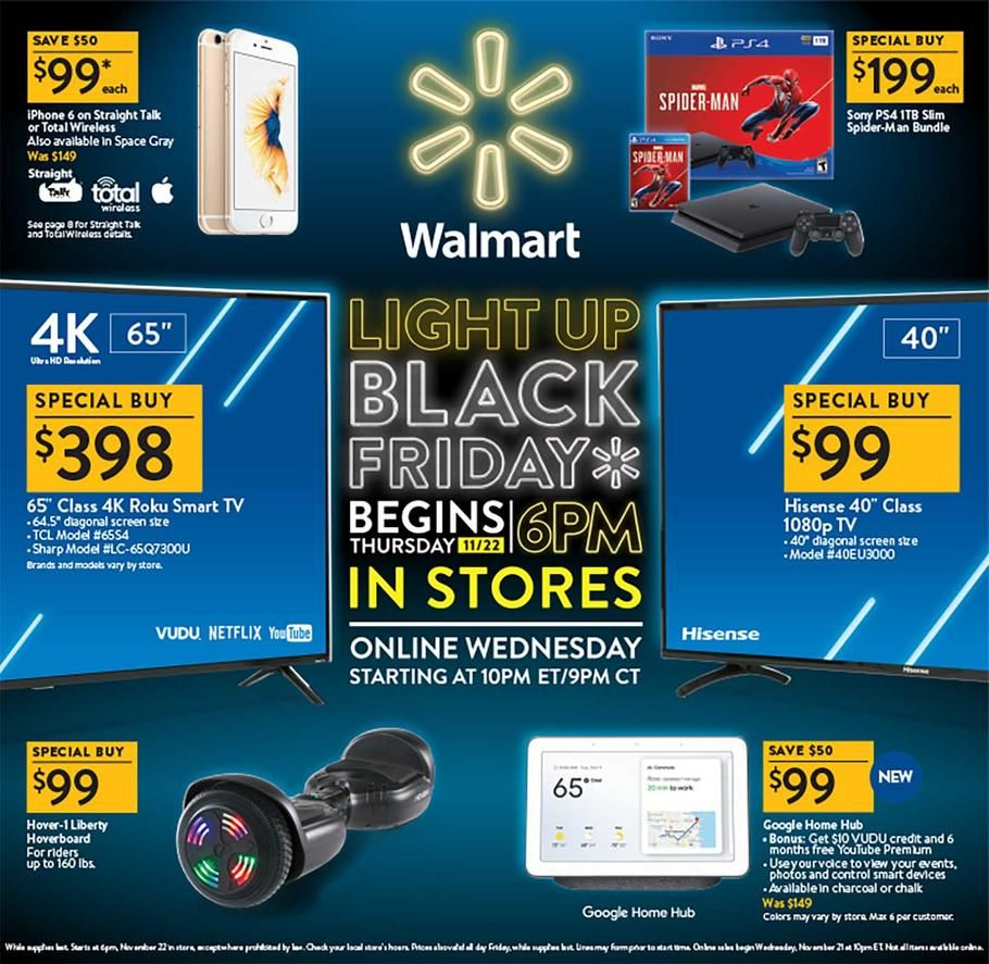 Walmart Black Friday 2018 Ads Scan Deals And Sales See The Walmart Black Friday Ad 2018 At 101bla Walmart Black Friday Ad Black Friday Ads Black Friday Offers