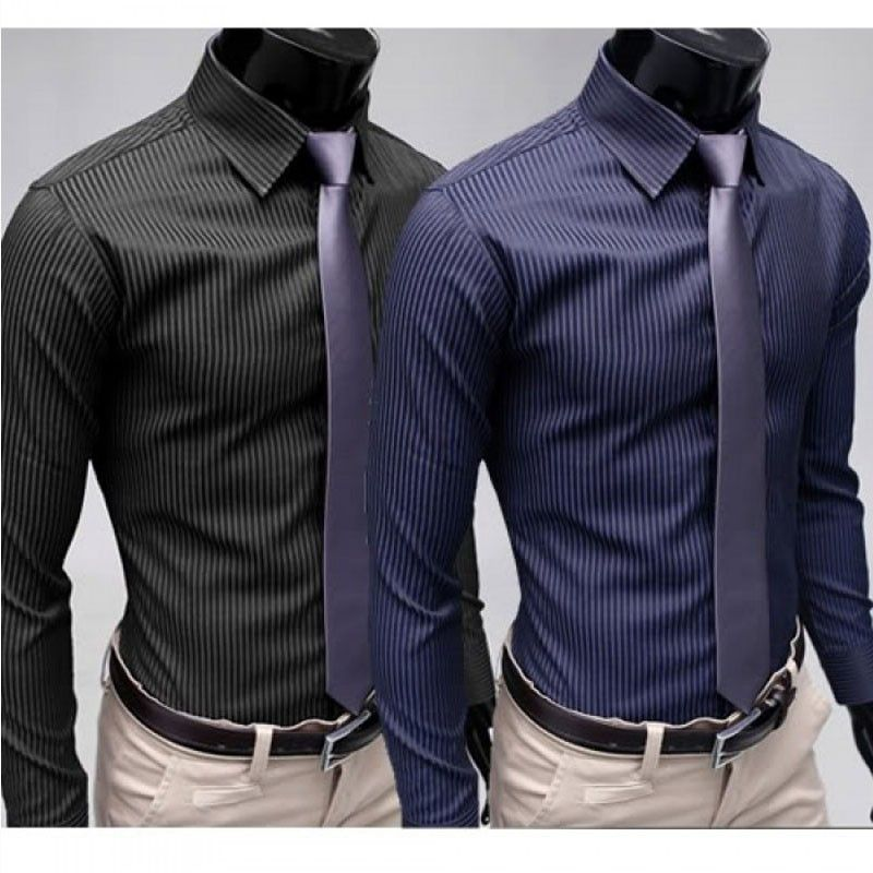 Camisa Casual Slim Fit Casual Listrada