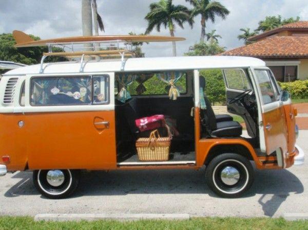 7c94932a0d 1974 vw bus orange Volkswagen