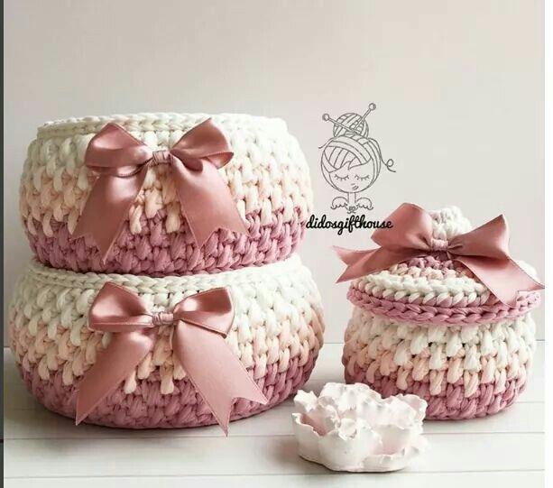Pin de Zainab Ashour en Crochet basket | Pinterest | Trapillo y ...