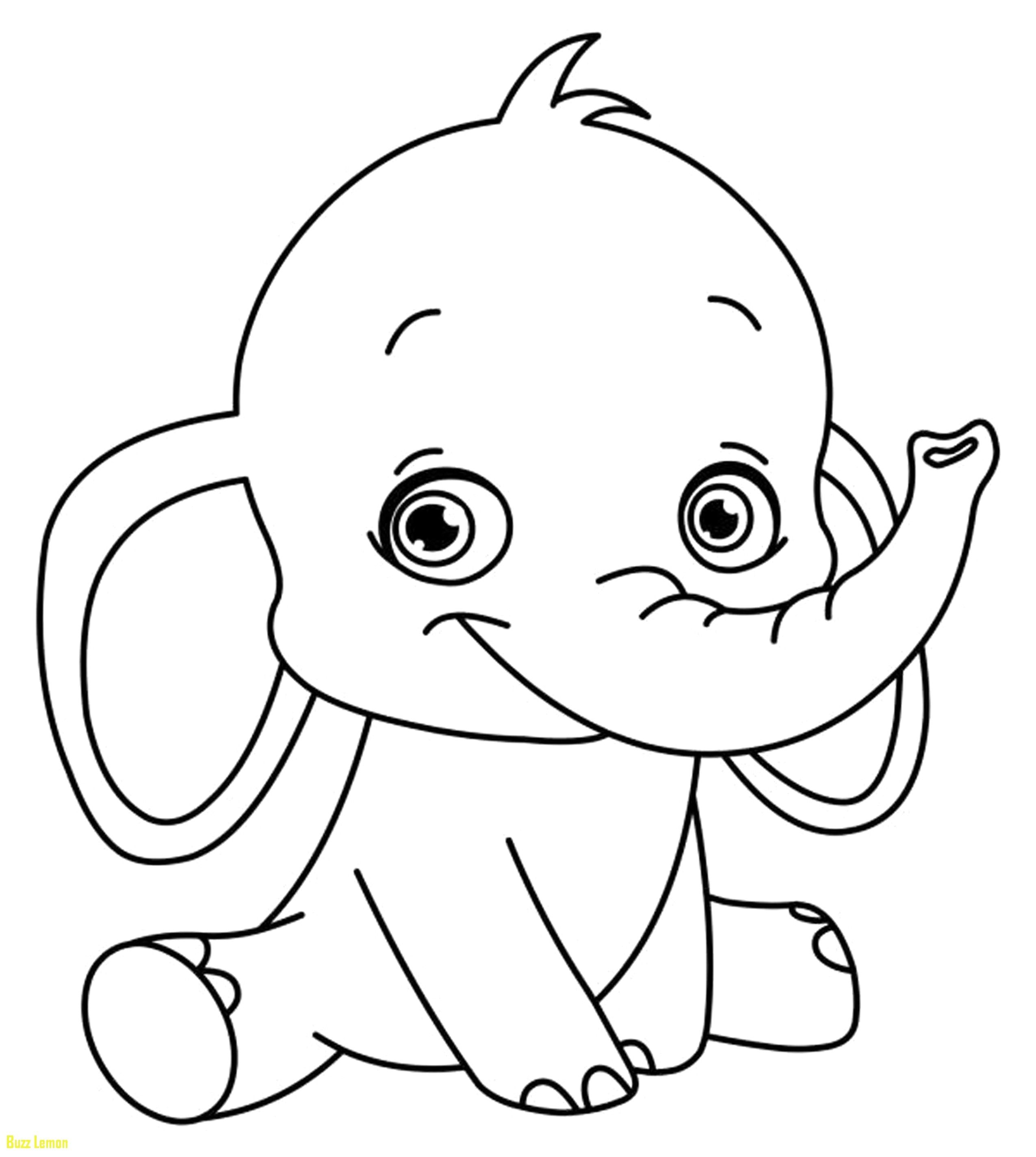 Big And Easy Elephant Coloring Pages Free Coloring Pages