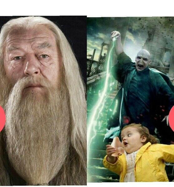 Dumbledore is so much more serious than Voldemort