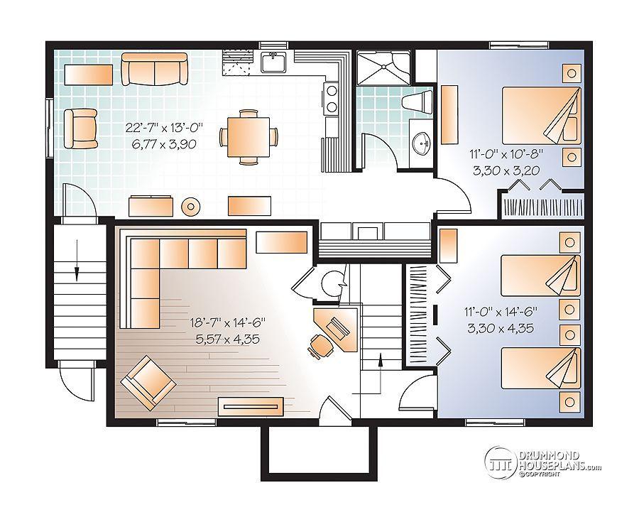 House Plans With Basement Apartment Drummond Plans Basement
