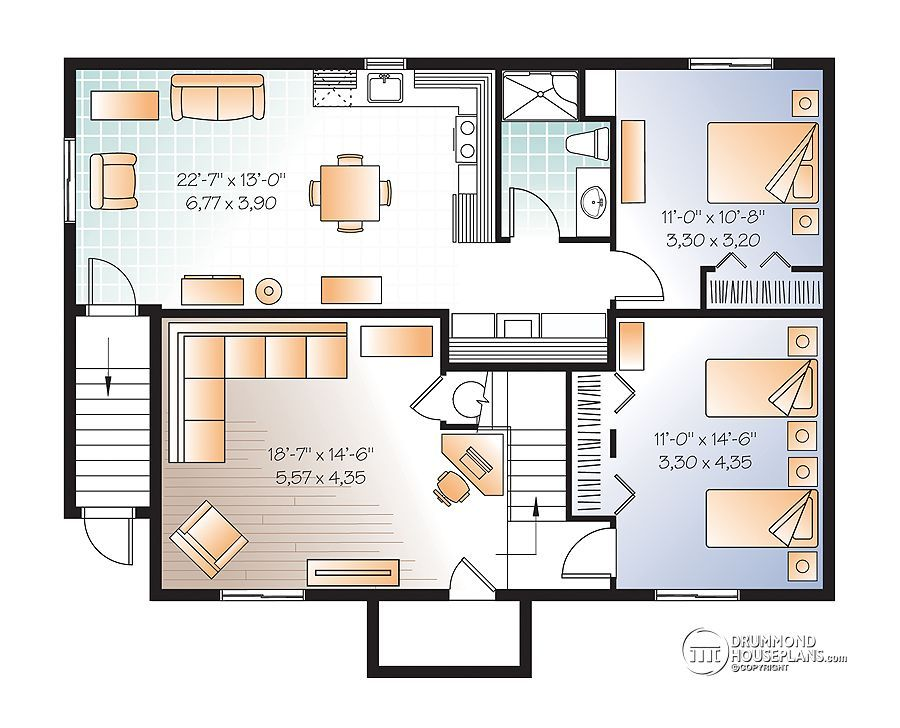 Family House Plans house plans with basement apartment - drummond plans | basement