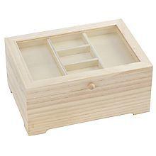 Boîte de rangement en bois, 24,5 x 17,5 x 11 cm