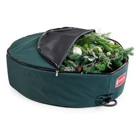 Treekeeper 36 In X 6 In Polyester Wreath Storage Container Tk 10112 Rs Wreath Storage Bag Storage Wreath Storage Container