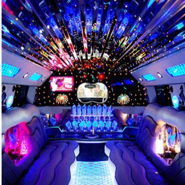 This Is Kinda What The Inside Of My Limo Will Look Like Except I Will Put A Fur Rug And Tufted Seats Limo Party Party Bus Wedding Limo
