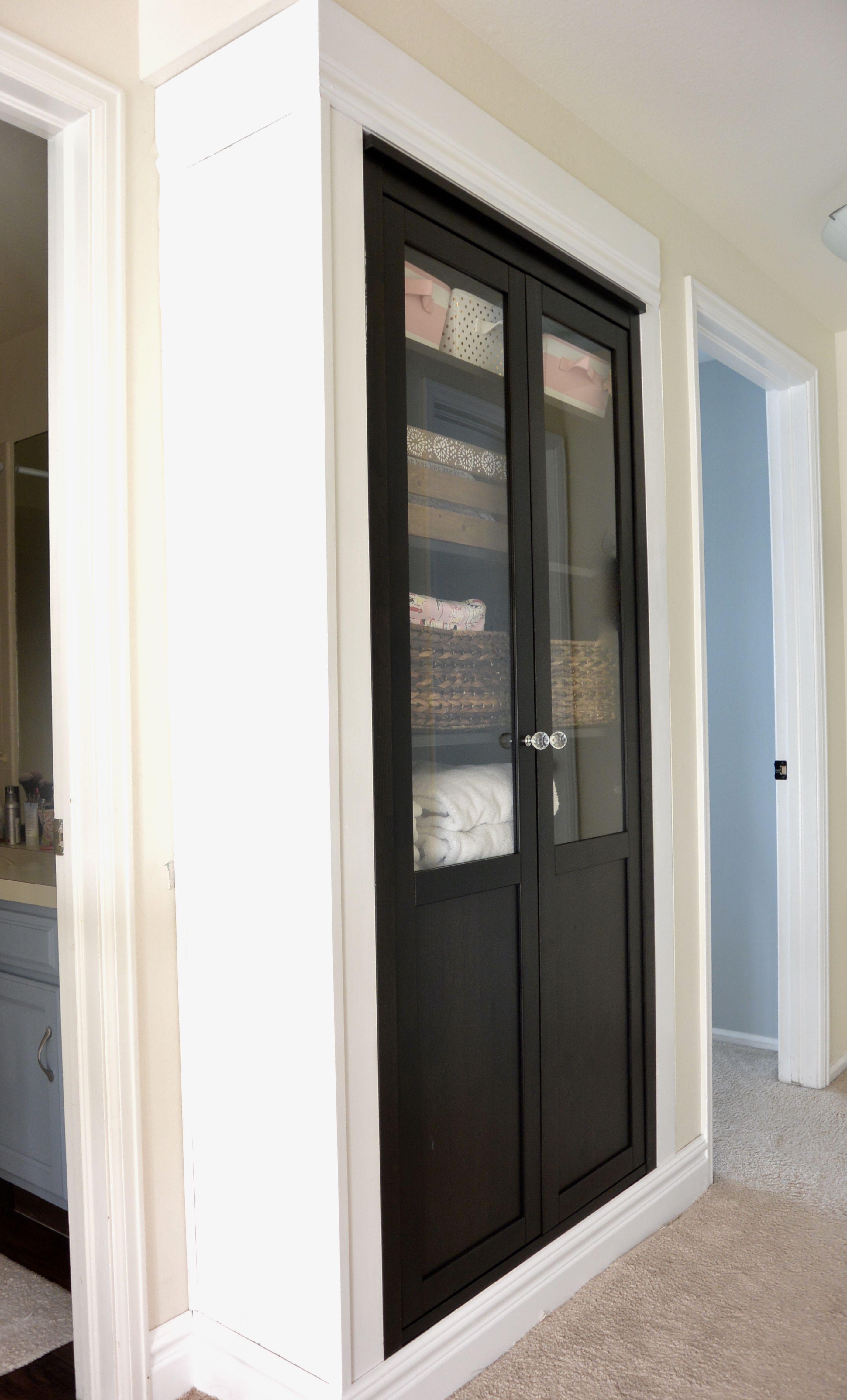 Use An Ikea Hemnes Cabinet As A Linen Closet Bathroom Linen Cabinet Ideal Bathrooms Bathroom Furniture Storage