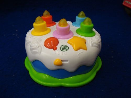 J Leap Frog LeapFrog Musical Blow Out Counting Candles Light Up Birthday Cake